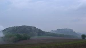 Festung Königsstein im Nebel