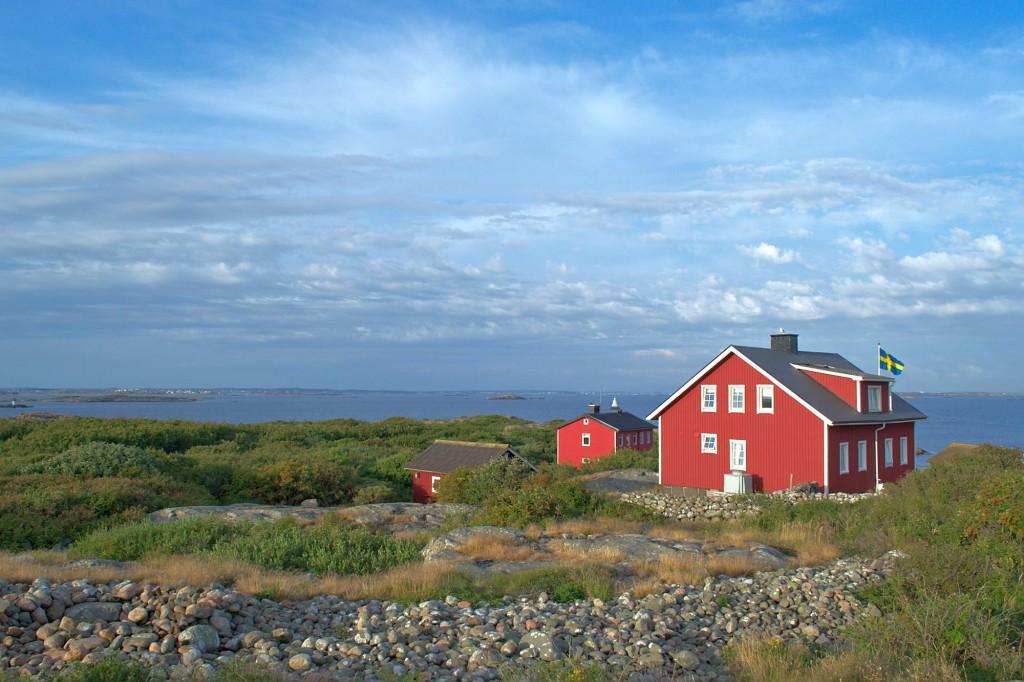Hütten auf der Insel Vinga vor Göteborg