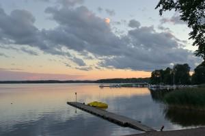 Abendstimmung am Mälaren auf einem Campingplatz in der Nähe von Enköping