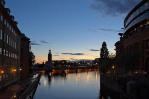 Blick auf das stockholmer Stadshus