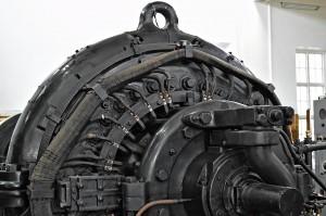 Wechselspannungsgenerator (ein Alexanderson-Alternator), der die Antennen des Längstwellensenders Grimeton speist.