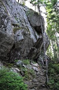 Einer der größeren Felsen im Tividen