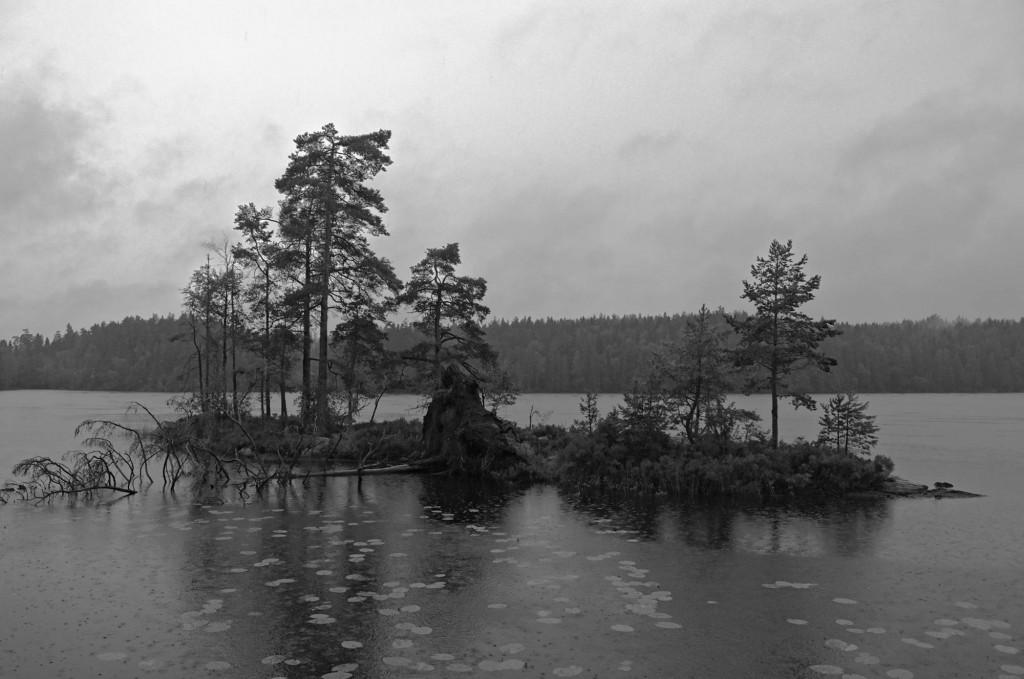 Der Fagertärn, einziger See mit natürlich vorkommenden roten Seerosen