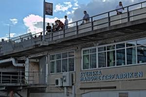Räumlichkeiten der Svenska Manometerfabriken unter einer Straße am Slussen