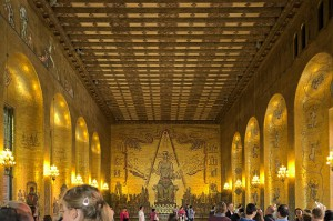 Der goldene Saal im stadshus in Stockholm.