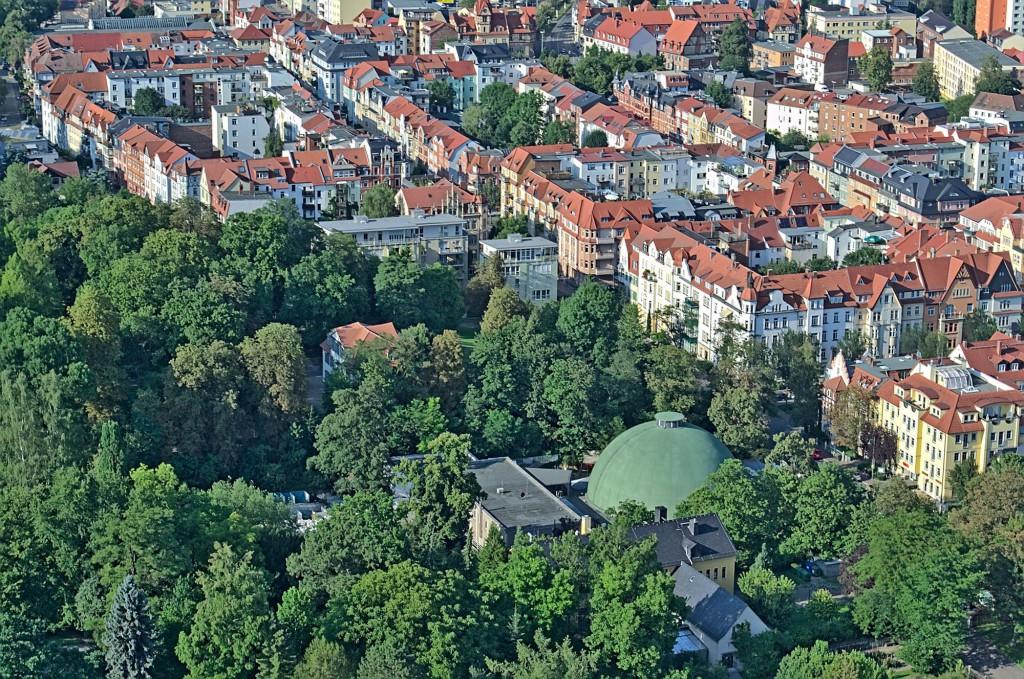 Das Planetarium in Jena von oben.