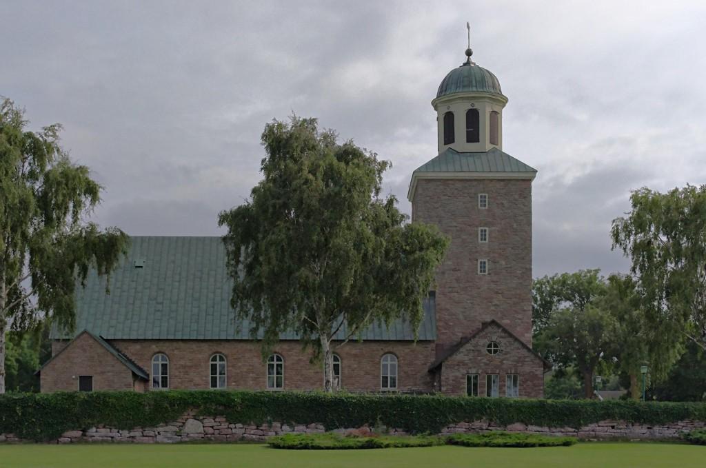 Die Kirche in Borgholm auf der schwedischen Insel Öland.