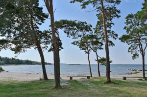 Blick von unserem Campingplatz auf Öland nach Süden.