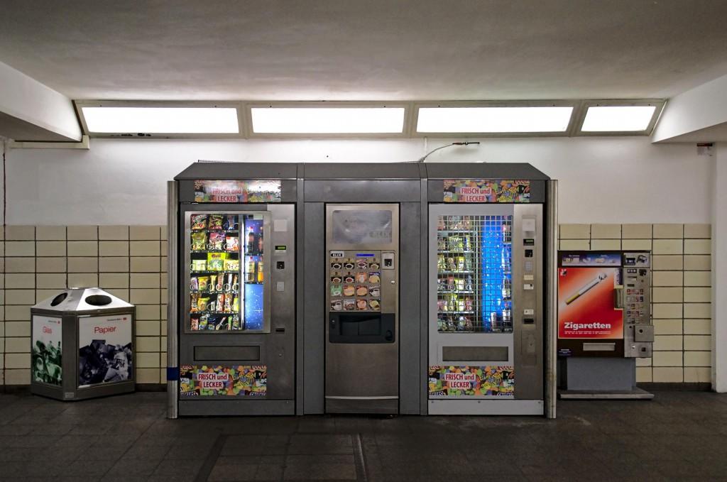 Verpflegungsautomat im Zwickauer Bahnhof