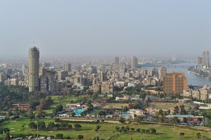 Der kairoer Stadtteil Zamalek auf einer NIlinsel.