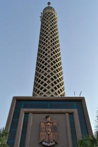 Der Turm vom Eingangsbereich aus gesehen.
