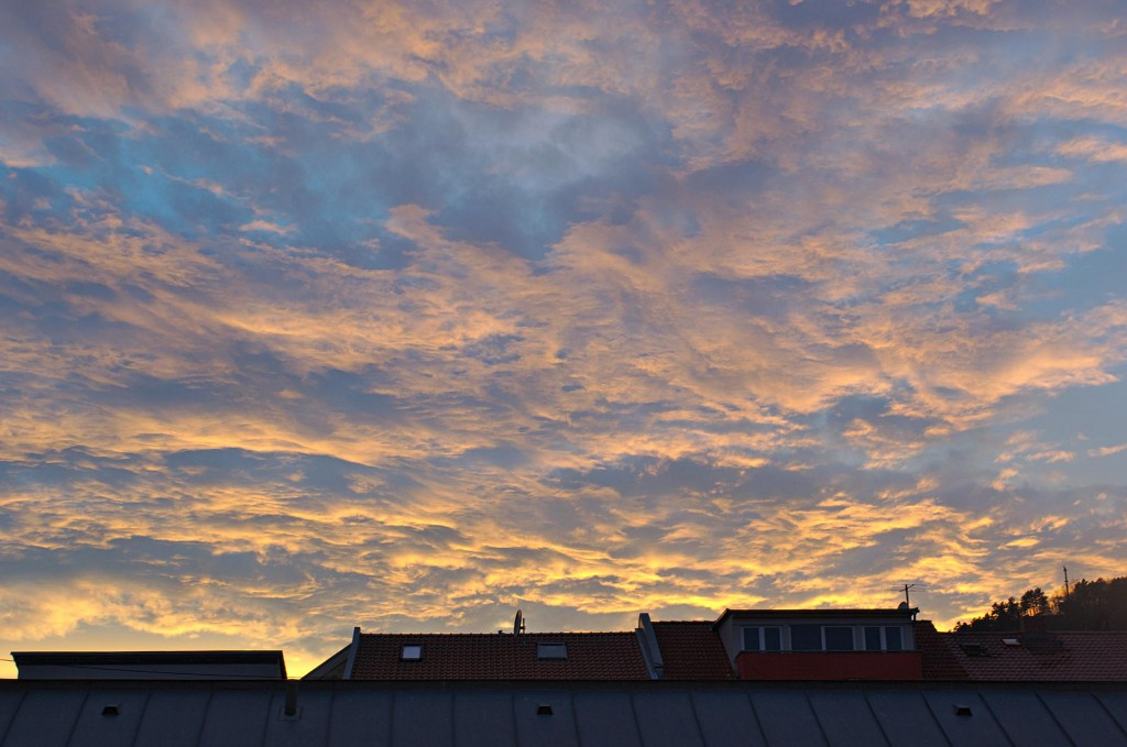 Sonnenuntergang in Jena am 14.04.2015