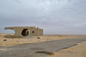 Nebengebäude an der einzigen Raststätte zwischen Kairo und der Oase Bahariyya