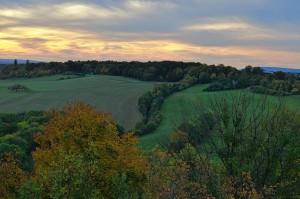 Hügellandschaft zwischen Jena und Weimar.