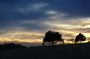 Sonnenuntergang beim Napoleonstein