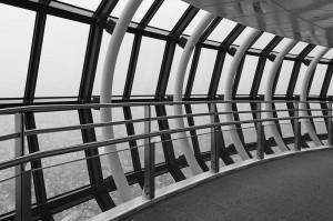 Die obere Aussichtsplattform des Tokio Skytree in 450 m Höhe.