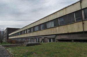 Ein ehemaliges Gebäude der Strumpffabrik Siegfried Peretz, Chemnitz, Bruno-Salzer-Straße