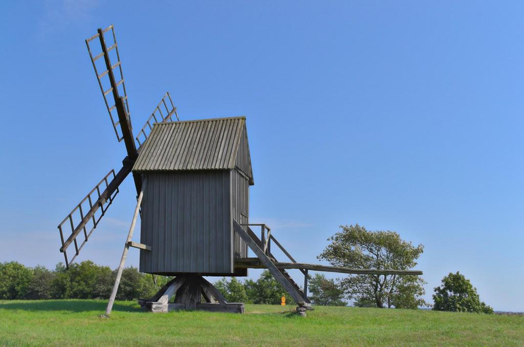 Eine von unzähligen Windmühlen auf Öland.