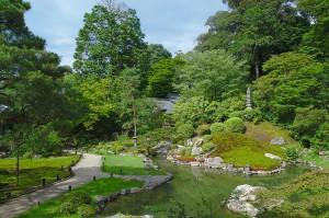 Garten des Shoren-In Tempels in Kyoto, ein typisches Beispiel für einen japanischen Tempelgarten.