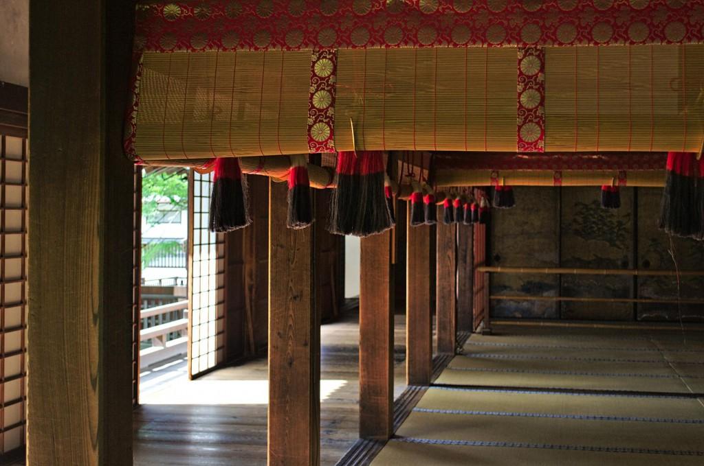 Ein Raum im Shoren-In Tempel in Kyoto.