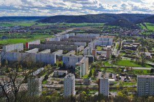 Jena-Lobeda fotografiert mit Brennweite 35 mm.