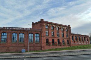 Das Industriemuseum Chemnitz, Zwickauer Straße 117, in einem ehemaligen Gebäude einer Maschinenfabrik der Hermann und Alfred Escher AG