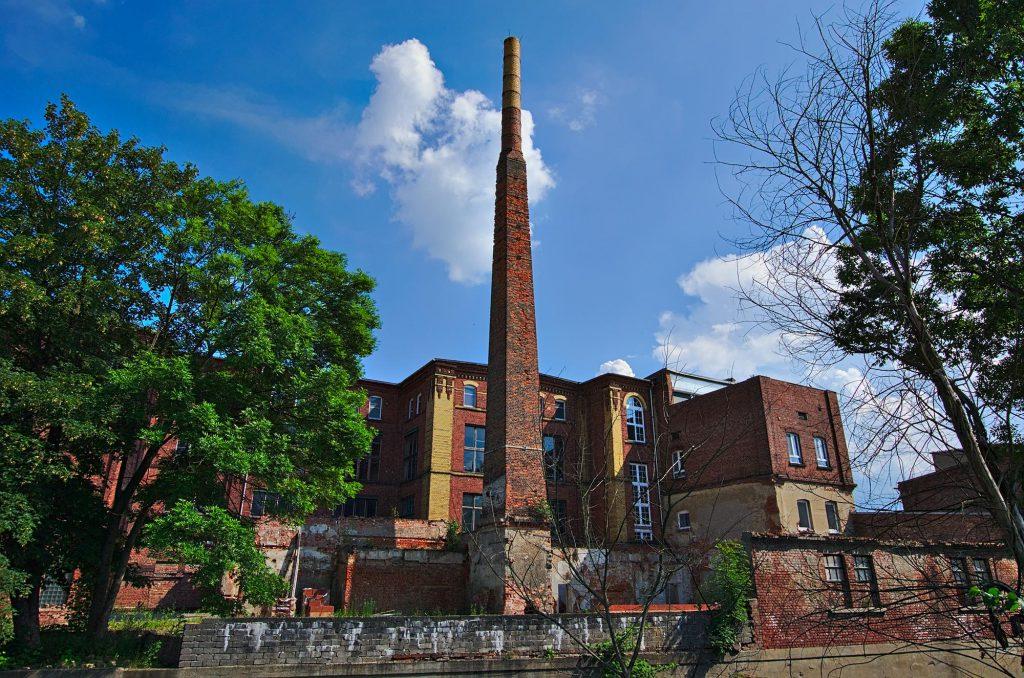 Ein anderes altes Industriegebäude in Crimmitschau