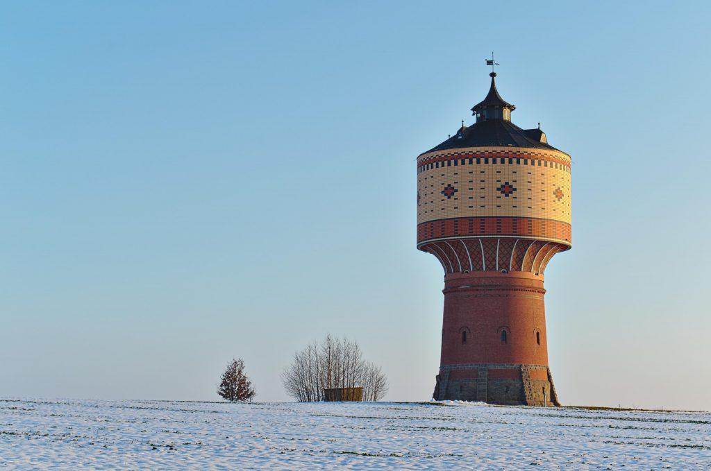Wasserturm nahe der sächsischen Stadt Mittweida im März 2013.