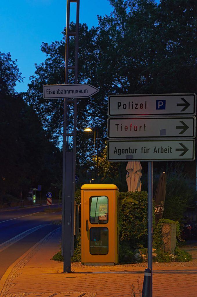 Weimar, Friedrich-Ebert-Straße/Eduard-Rosenthal-Straße, TelH 78, fotografiert im August 2014.
