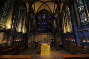 Dreifaltigkeitskapelle am östlichen Ende der Kathedrale von Salisbury
