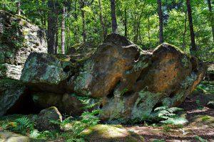 Ein Felsen im Bahratal.