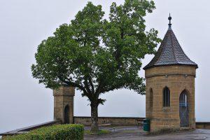 Eine Ecke der Burg Hohenzollern ohne Blick ins Tal.