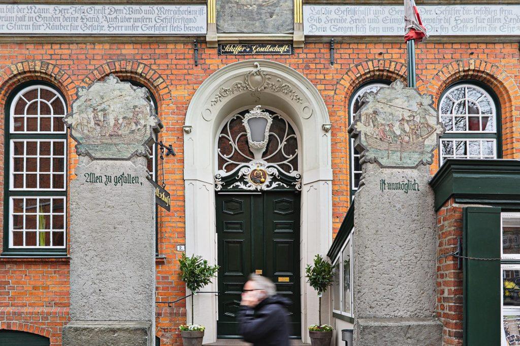 Eingang der Schiffer-Gesellschaft zu Lübeck
