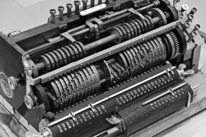 Eine Rechenmaschine mit zwei Registern.