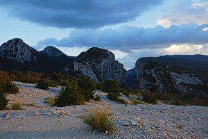 Blick auf die Verdon-Schlucht zurück am Point Sublime am Ende unserer Wanderung